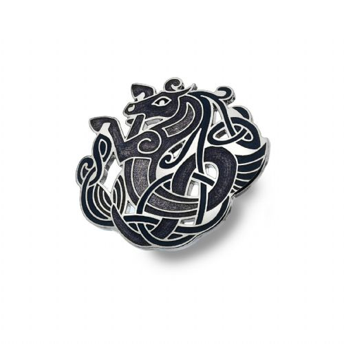 Celtic Horse Brooch Silver Plated Purple Brand New Gift Packaging